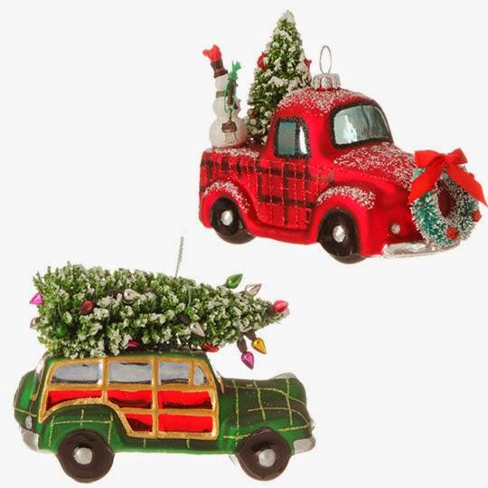 Orange Christmas Decorations Sled