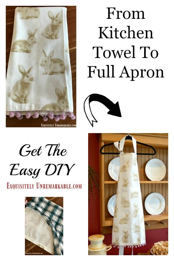 From kitchen towel to Apron get the easy DIY text