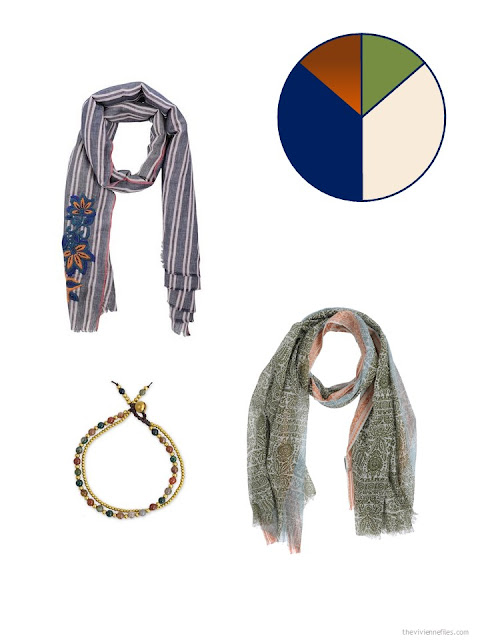 adding multicolored accessories to a summer travel capsule wardrobe