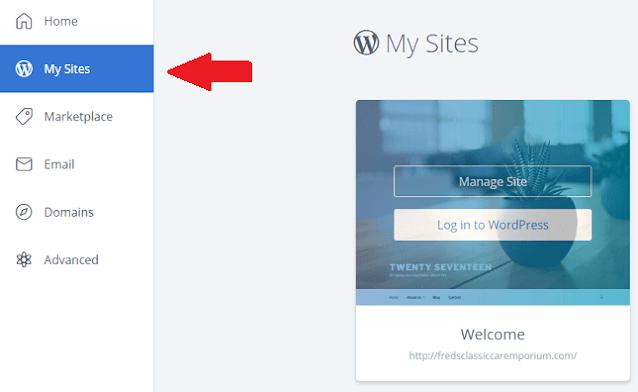 Installing WordPress on BlueHost Blog