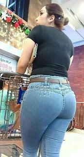 caderona jeans apretados