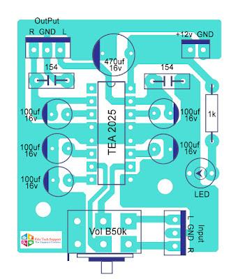 portable headphone amplifier PCB Layout 3 | TEA 2025  |  Edu Tech Support