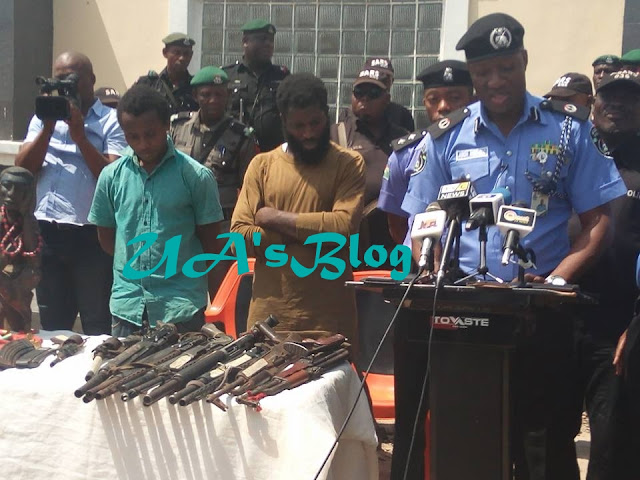 Notorious Criminals Allegedly Working For Senator Dino Melaye Paraded With Dangerous Weapons By Police (Photos)
