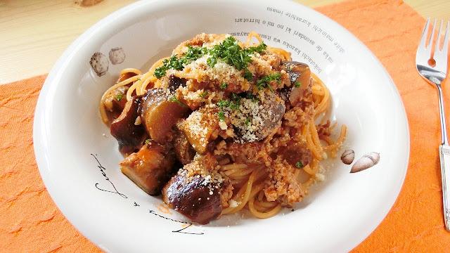とろとろなすとひき肉のボロネーゼ風パスタは「大さじ1」の隠し味がポイント!