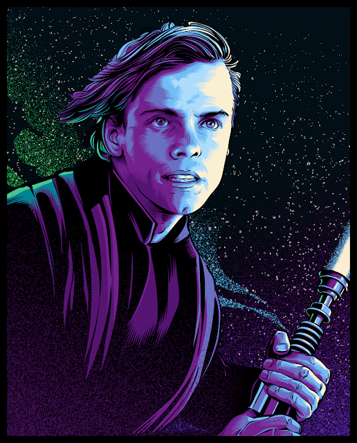 Cristiano Siqueira Star Wars Illustrations - Luke Skywalker