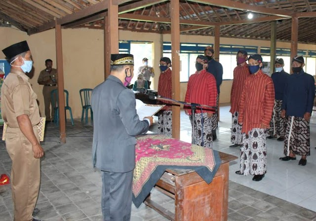 Pamong Kalurahan Rejosari dilantik 15 Juni 2020