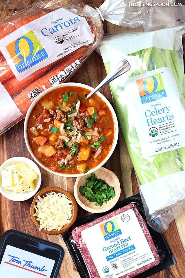 Hamburger Vegetable Soup Recipe with O Organics Products From Tom Thumb