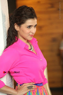 Actress Mannar Chopra in Pink Top and Blue Skirt at Rogue movie Interview  0150.JPG
