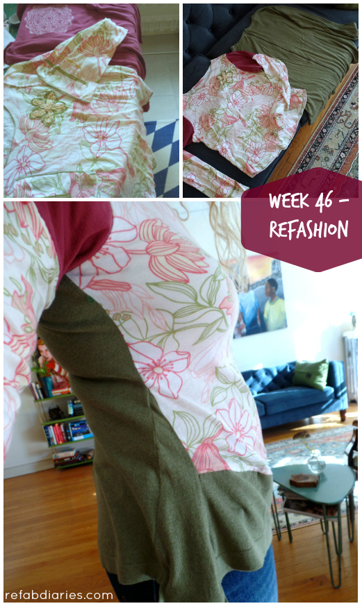 Trimming my waste: Week 46 (mom's refashion)