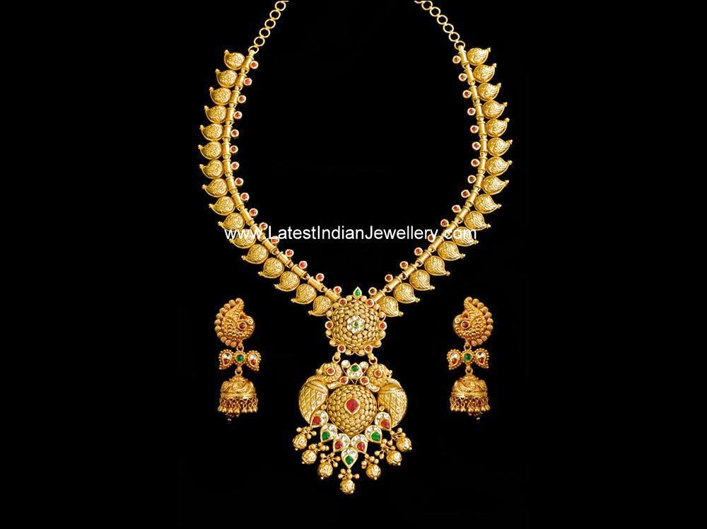 antique gold long mango haram