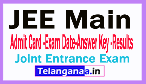 JEE Main 2018 Admit Card Online Download