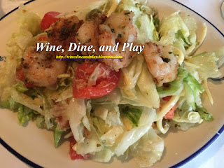 The famed 1905 Salad with shrimp at the Columbia Restaurant in Sarasota, Florida