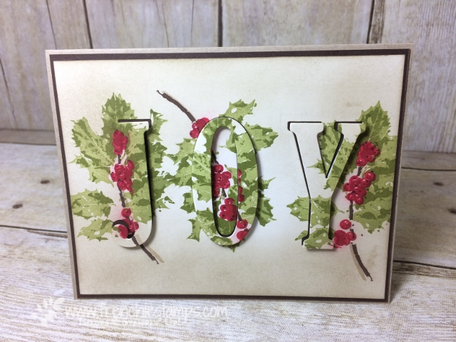 Joy Eclipse card, Good tidings, Large Letter Framelits, Stampin'Up!