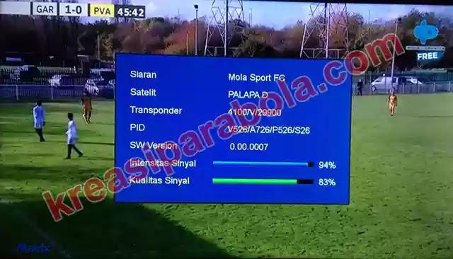 Frekuensi Mola Tv Free di Parabola