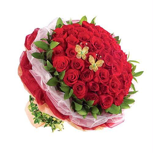 Buket Bunga Mawar Merah buat Pacar