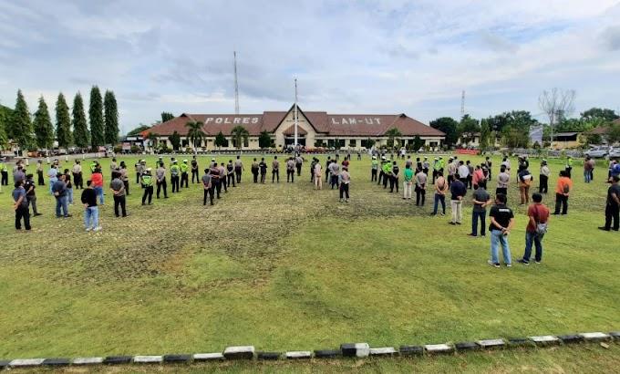 433 Personel Polres Lampura Diterjunkan dalam Pengamanan Tahun Baru 2021
