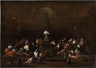 Meeting of Quakers (1695) was typical of the Magnasco works depicting real-life scenes