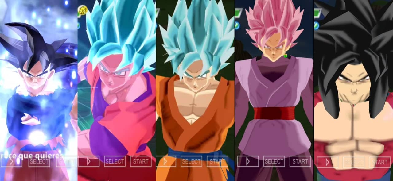 Dragon Ball Super Goku All Transformations