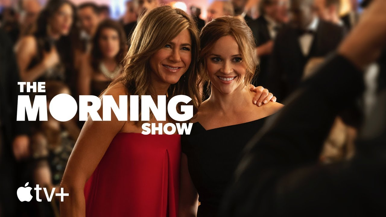 Jennifer Aniston and Reese Witherspoon in The Morning Show for Apple TV