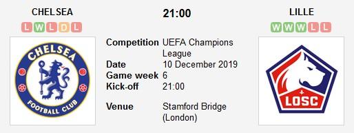 مشاهدة مباراة تشيلسي وليل بث مباشر اليوم في دوري أبطال أوروبا