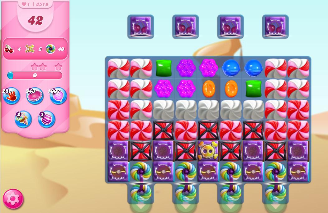 Candy Crush Saga level 8518