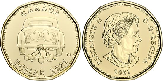 Canada 1 dollar 2021 - Wedding