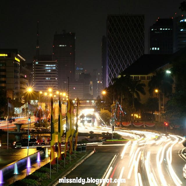 light trail Jakarta