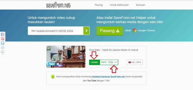 cara mudah download video Youtube