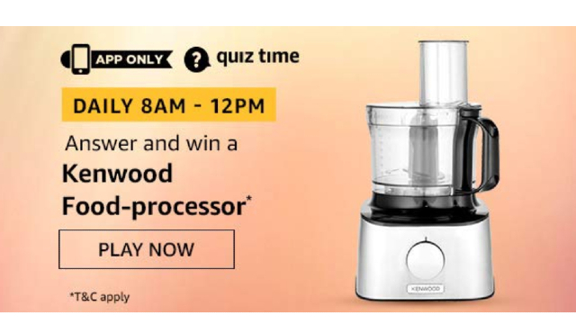 Amazon Kenwood Food Processor Quiz Answers Today win - Kenwood Food Processor