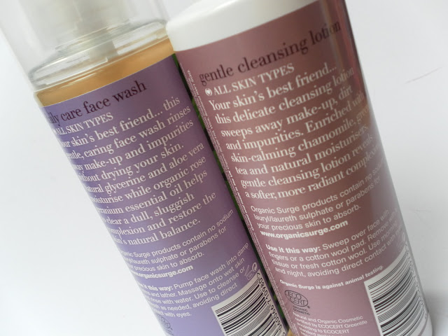 A picture of Organic Surge Daily Care Face Wash and Organic Surge Gentle Cleansing Lotion