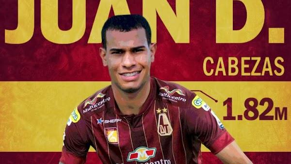 Oficial: Deportes Tolima, firma Juan David Cabezas