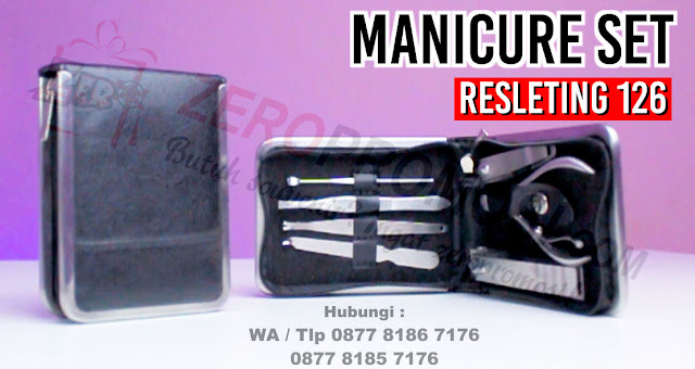 MANICURE SET Ritsleting 126#, Kikir kuku manicure pedicure set kit, Souvenir peralatan gunting kuku, Nails Manicure Set, Manicure & Pedicure, Manicure Set isi 7pcs, Jual Souvenir Perawatan Kuku Tangan dan kaki