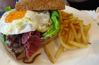 Huber's Bistro, pastrami sandwich