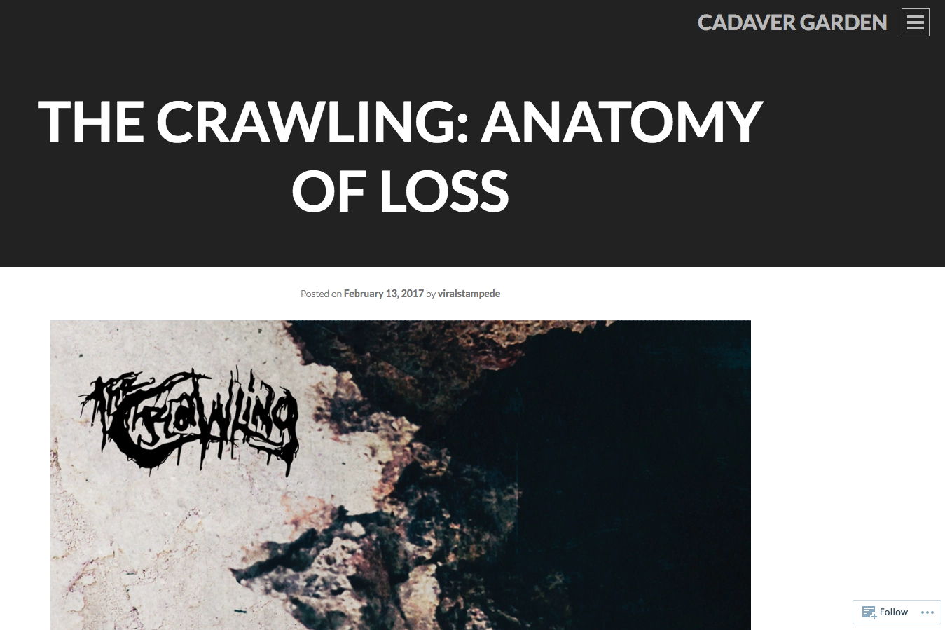 CD review: \'Anatomy Of Loss\' - Cadaver Garden