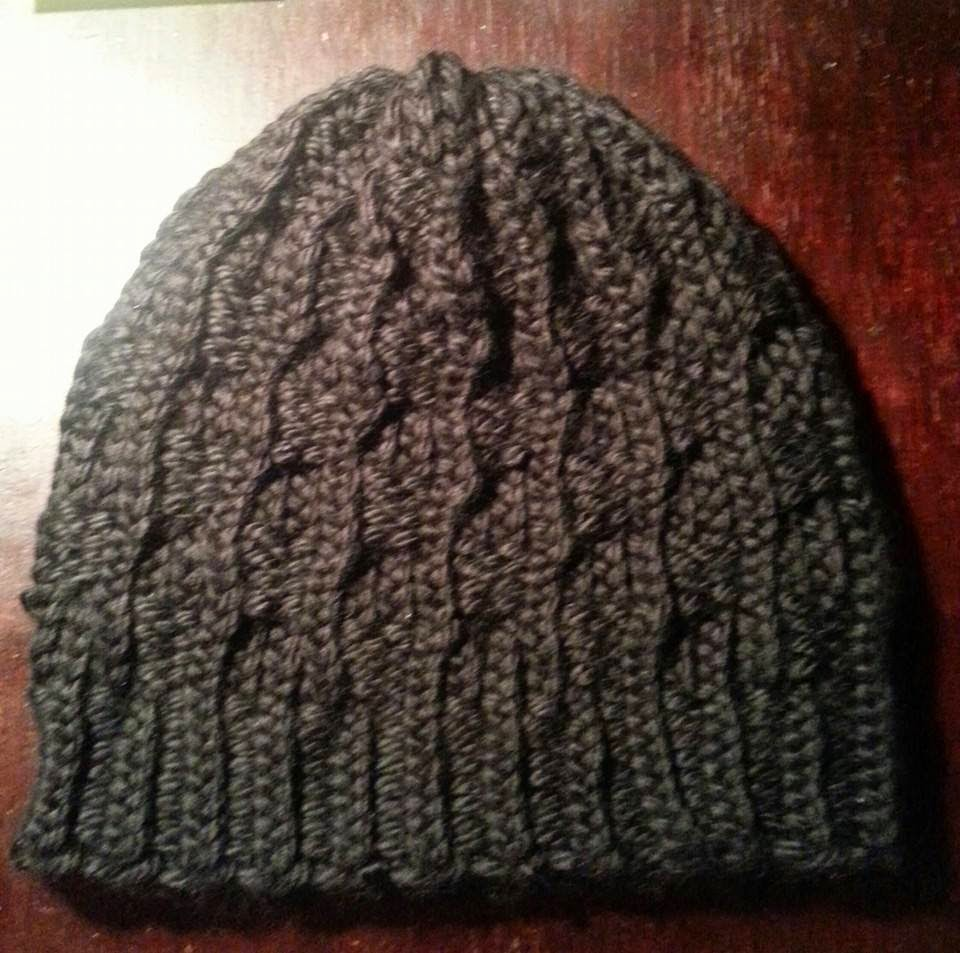 Looming Exclusive Designs: Mens Ribbed Ribbed Beanie hat