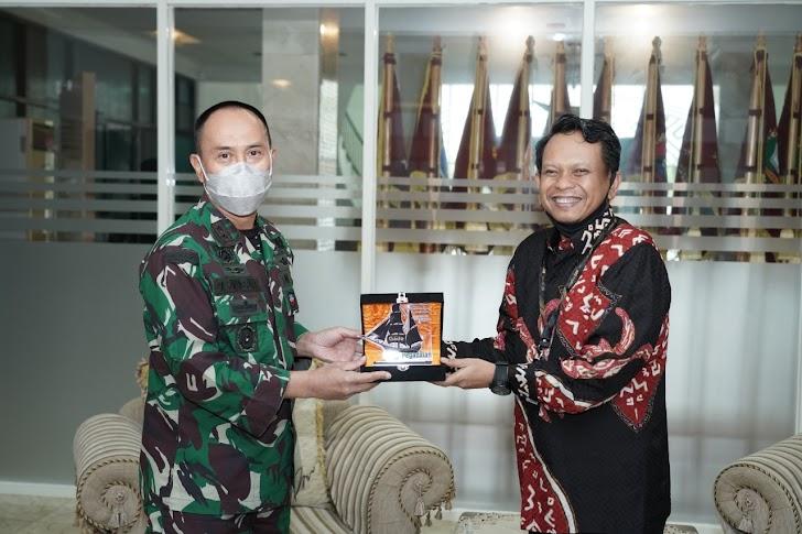 Pangdam Hasanuddin Terima Audensi Pimpinan PT. Pegadaian (Persero) Kanwil VI Makassar