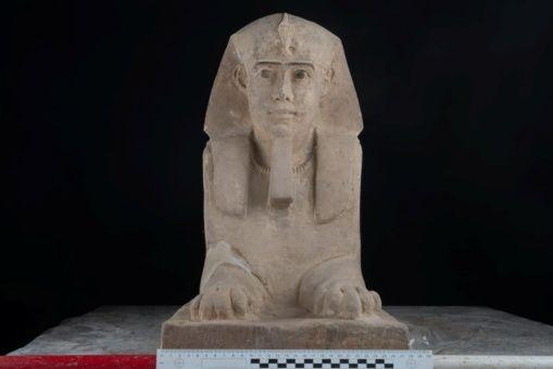 Hallan esfinge de la época de los faraones en Egipto