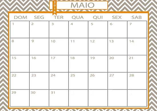 calendário 2016, calendário, folha calendário, folha Maio, calendar