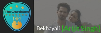 BEKHAYALI Guitar Chords by | Arijit Singh (Kabir Singh)