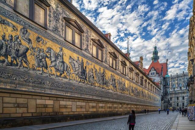 Furstenzug is a complex that has murals