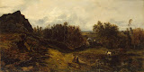 View on the Outskirts of Granville by Theodore Rousseau - Landscape Paintings from Hermitage Museum