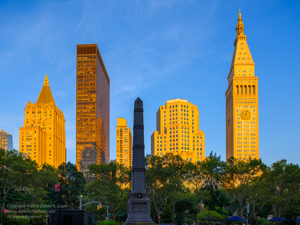 a photo of the view from madison square park new york