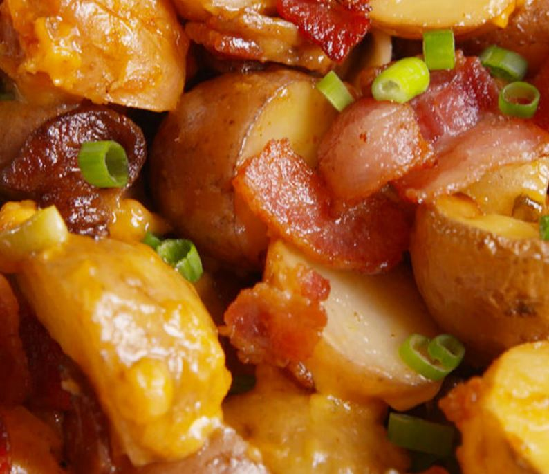 Loaded Slow Cooker Potatoes A Delish Recipe That Does Not