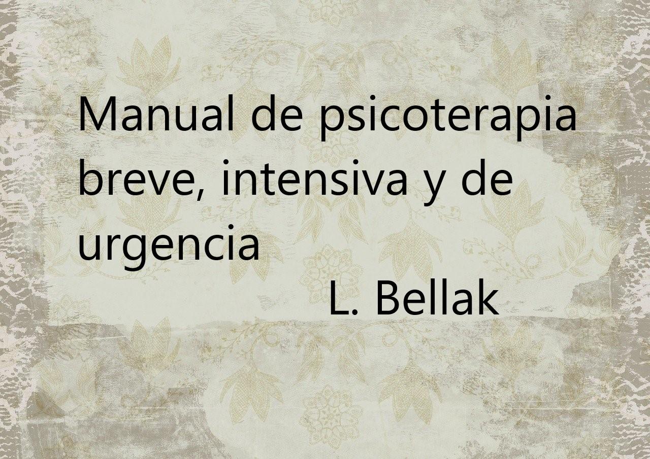 Manual de psicoterapia breve, intensiva y de urgencia. PDF