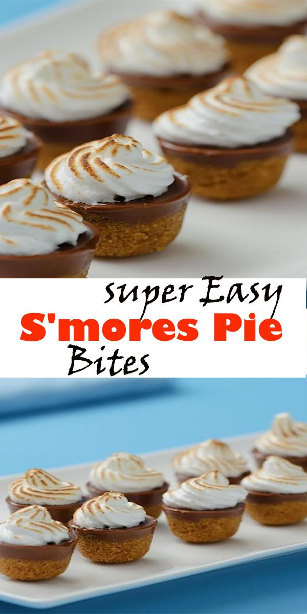 super Easy S'mores Pie Bites #superEasy #S'mores #Pie #Bites #superEasyS'moresPieBites