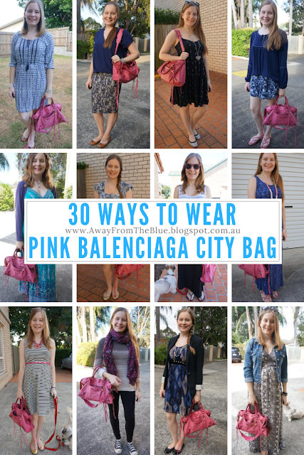 30 ways to wear balenciaga sorbet pink city bag outfit ideas | Away From Blue Blog