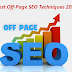 Latest Off Page SEO Techniques 2019 that will boost your traffic