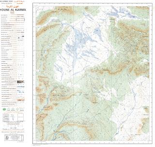 Youne El Karma Morocco 50000 (50k) Topographic map free download