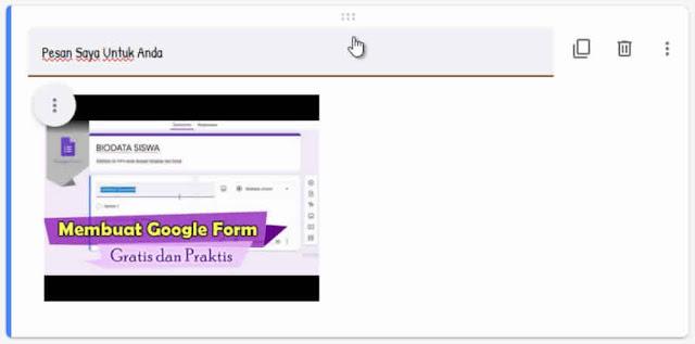 Add Video Google Form