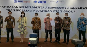 PTPN III Tandatangani MAA Transformasi Keuangan PTPN Group Dengan Kreditor
